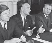 Senators Ted Kennedy, Mike Mansfield, 