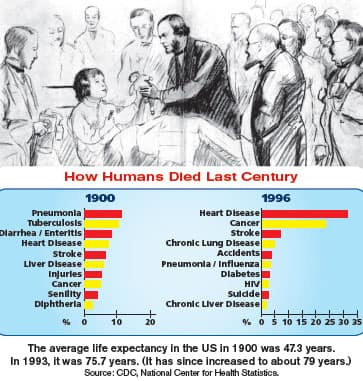 How Humans Died Last Century