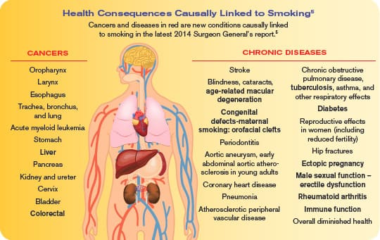 Health Consequences Causally Linked to Smoking
