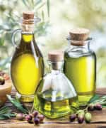 Picture of olive oil in a bottle