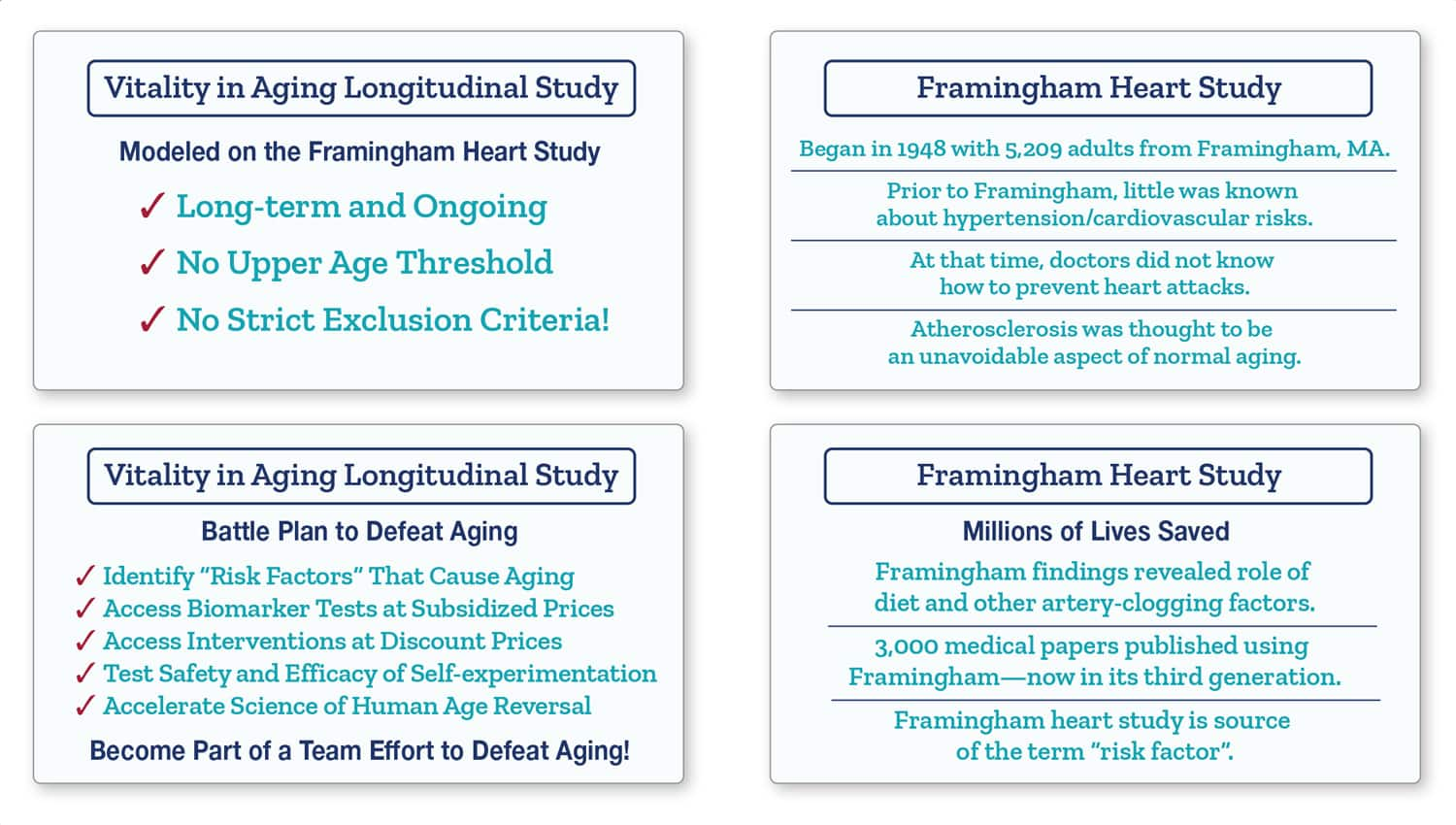 Information on Vitality in Aging Trials