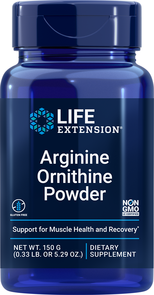 Arginine Ornithine Powder, Net Wt. 150 g (0.33 lb. or 5.29 oz.)