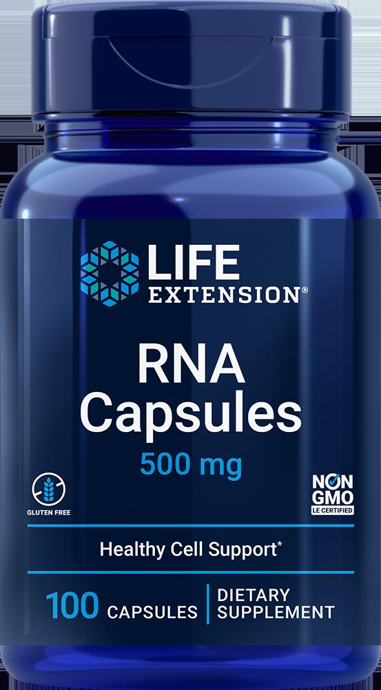 RNA Ribonucleic Acid 500 mg 100 capsules