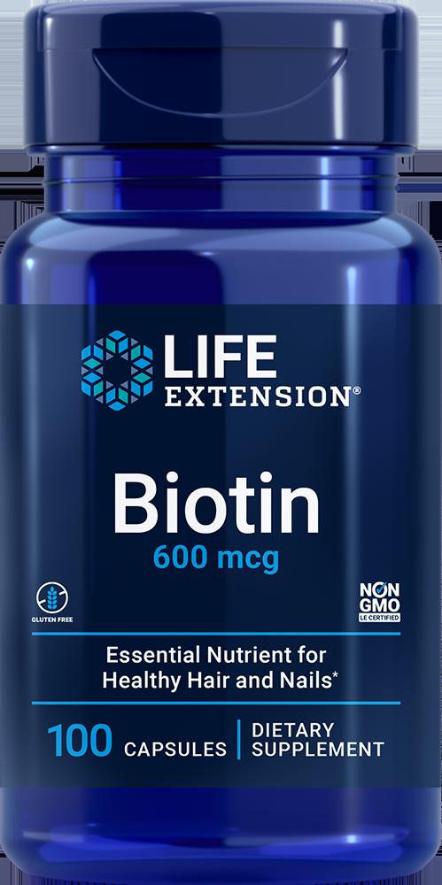 Life Extension Biotin - 600 mcg (100 Capsules)