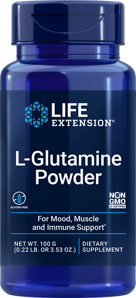L-Glutamine Powder, Net Wt. 100 g (0.22 lb. or 3.53 oz.)