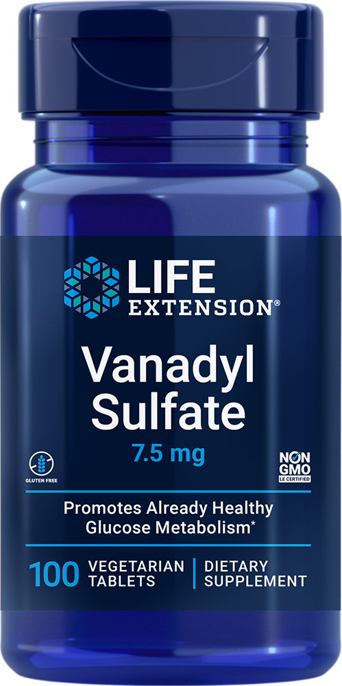 Life Extension Vanadyl Sulfate - 7.5 mg (100 Vegetarian Tablets)