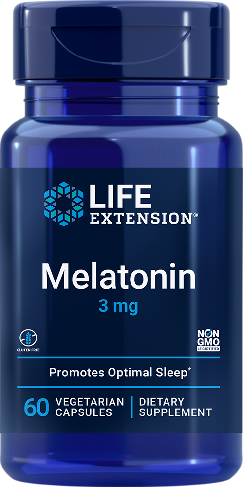 Life Extension Melatonin - 3 mg (60 Vegetarian Capsules)