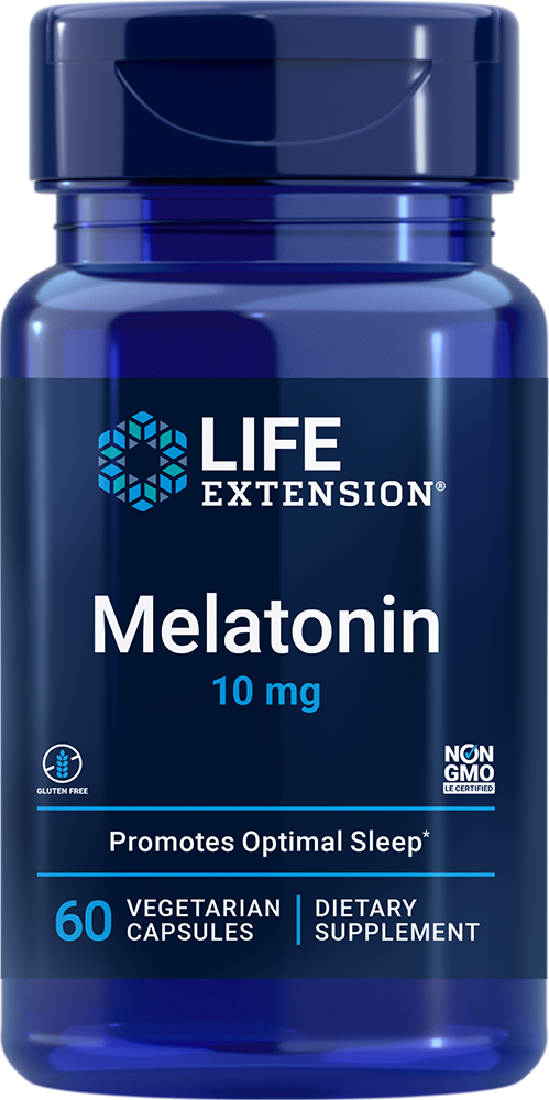 Life Extension Melatonin - 10 mg (60 Vegetarian Capsules)