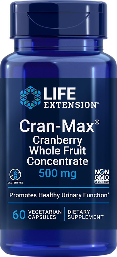 Cran-Max® Cranberry Whole Fruit Concentrate, 500 mg, 60 vegetarian capsulesnohtin