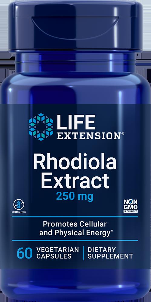 Rhodiola Extract (3% Rosavins), 250 mg, 60 vegetarian capsules