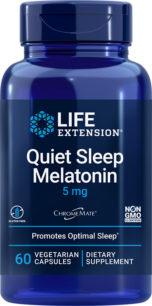 Natural Sleep® Melatonin, 5 mg, 60 vegetarian capsulesnohtin