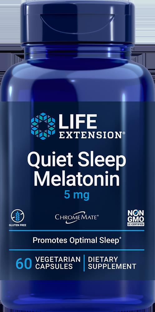 Quiet Sleep Melatonin, 5 mg, 60 vegetarian capsules