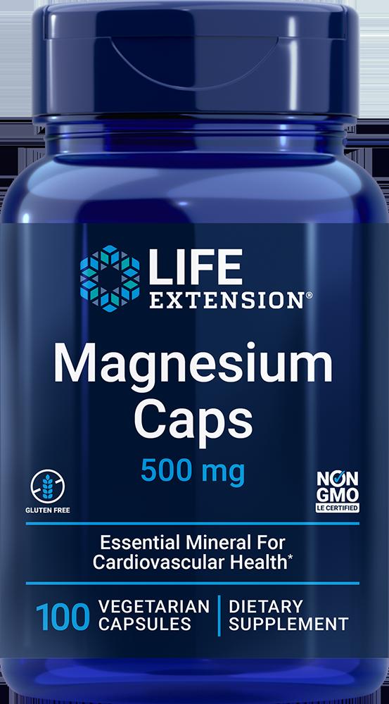 Magnesium Caps, 500 mg, 100 vegetarian capsulesnohtin