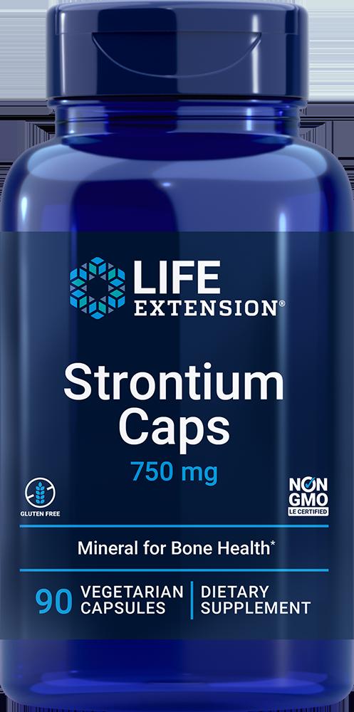 Strontium Caps, 750 mg, 90 vegetarian capsules