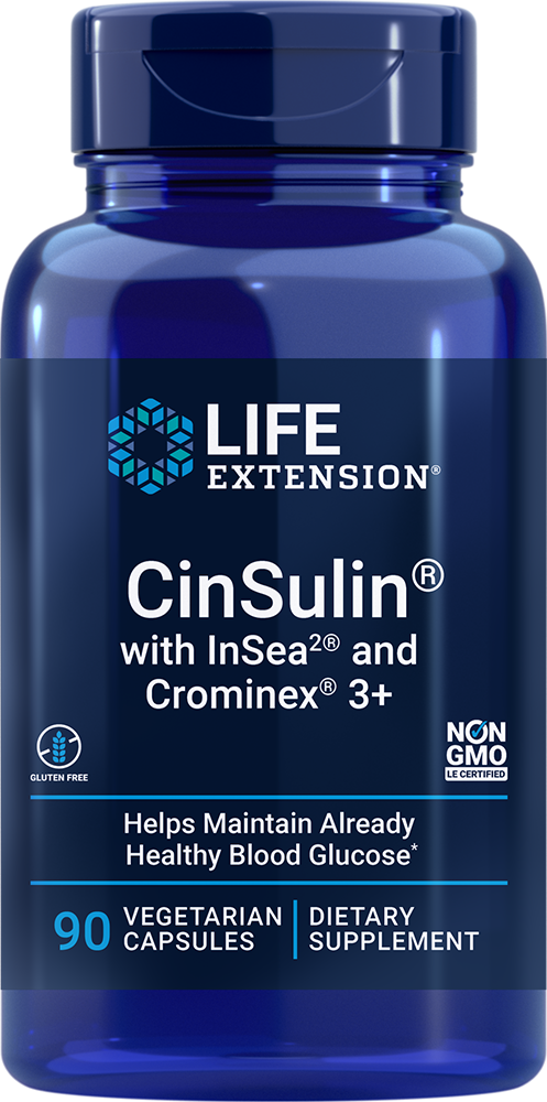 CinSulin® with InSea2® and Crominex® 3+, 90 vegetarian capsules