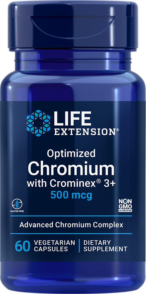 Optimized Chromium with Crominex® 3+, 500 mcg, 60 vegetarian capsulesnohtin