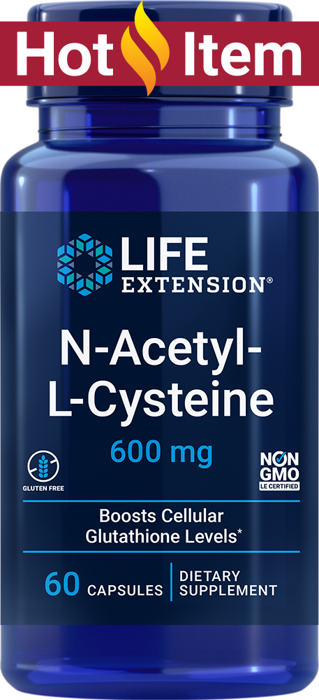 N-acetyl-L-cysteine is a  highly bioavailable nutrient that supports bronchial and respiratory health. N-acetyl-L-cysteine  supports healthy glutathione levels at the cellular level. Glutathione is a  potent antioxidant which helps protect neurons from oxidative stress and  insults from foreign compounds. N-acetyl-L-cysteine also