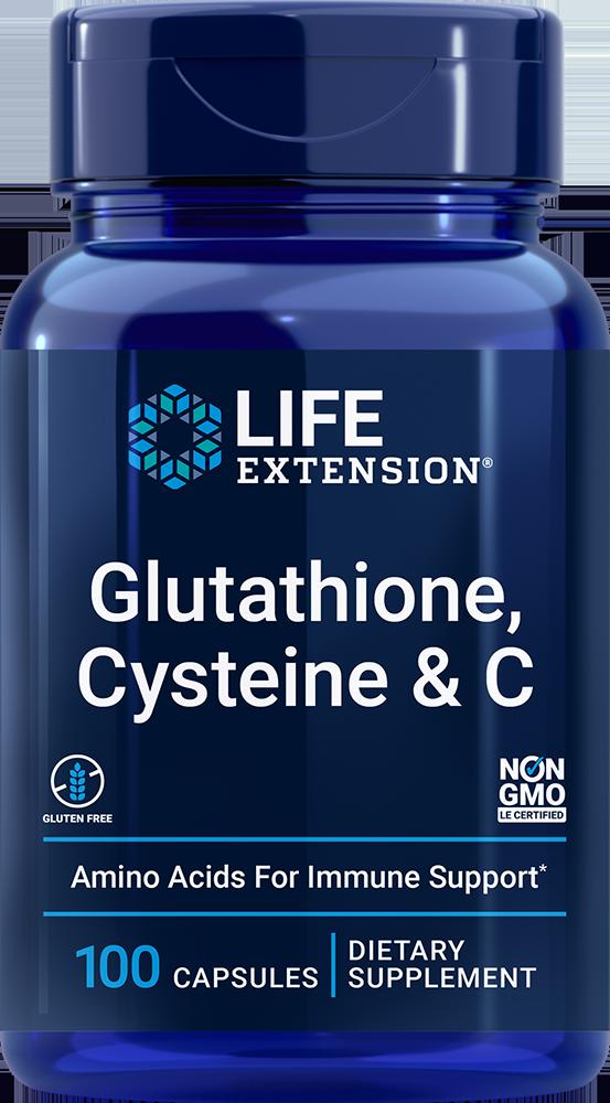 Glutathione, Cysteine %26 C, 100 vegetarian capsules