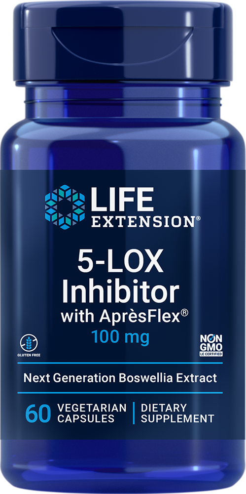 Life Extension 5-LOX Inhibitor with AprèsFlex® - 100 mg (60 Capsules,  Vegetarian)