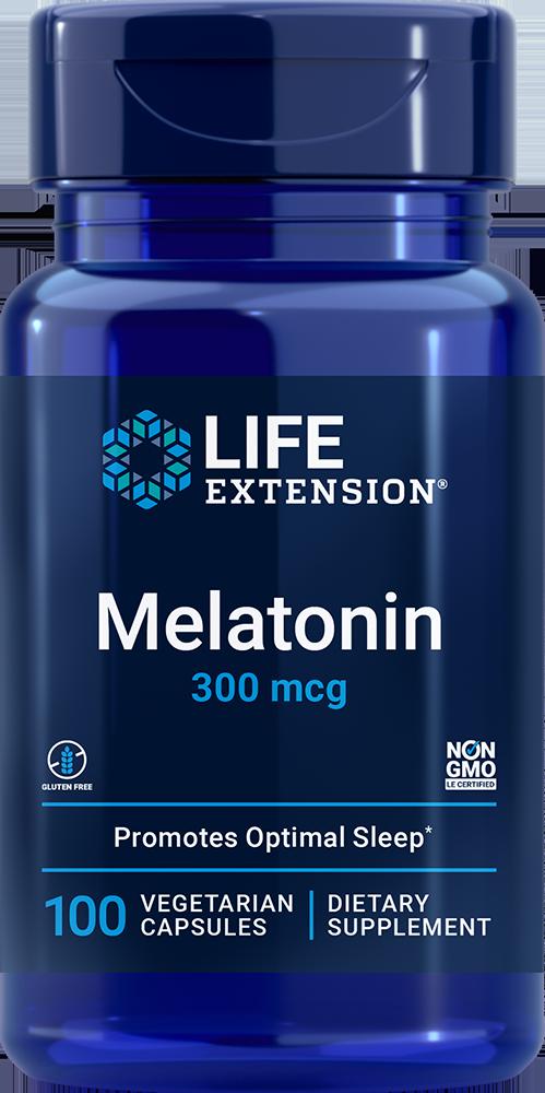 Melatonin, 300 mcg, 100 vegetarian capsules