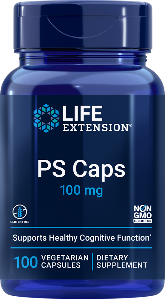 PS (Phosphatidylserine) Caps, 100 mg, 100 vegetarian capsules