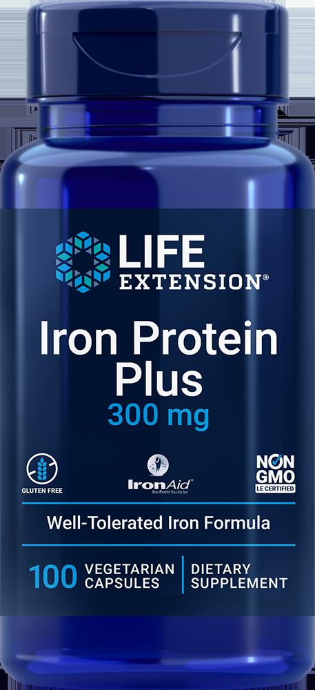 Life Extension Iron Protein Plus - 300 mg (100 Capsules)