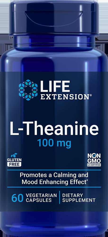 L-Theanine, 100 mg, 60 vegetarian capsulesnohtin