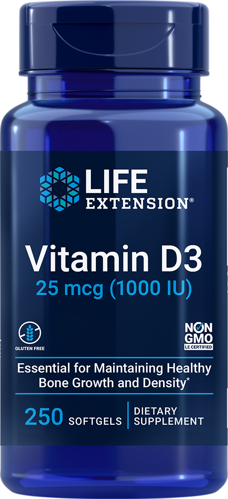 Vitamin D3 1 000 IU 250 softgels