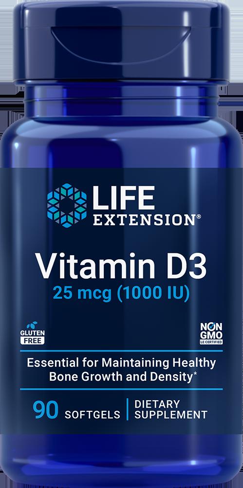 Vitamin D3 1 000 IU 90 softgels