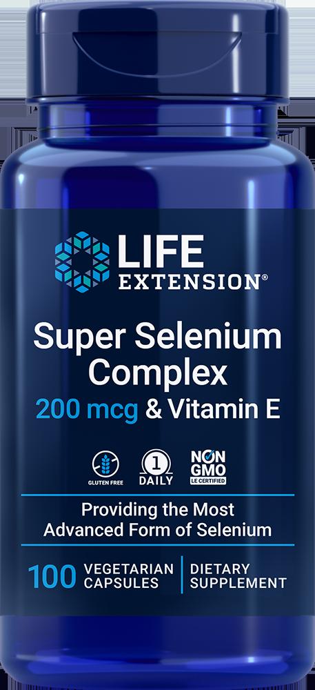 Super Selenium Complex, 200 mcg & Vitamin E, 100 vegetarian capsules