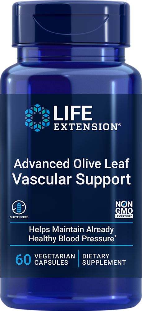 Advanced Olive Leaf Vascular Support with Celery Seed Extract (60 Vegetarian Capsules),  Life Extension