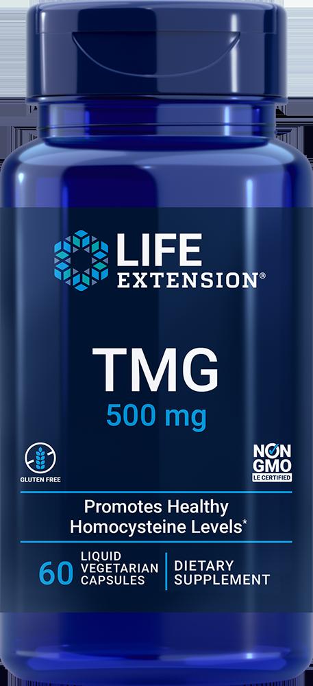 TMG, 500 mg, 60 liquid vegetarian capsules