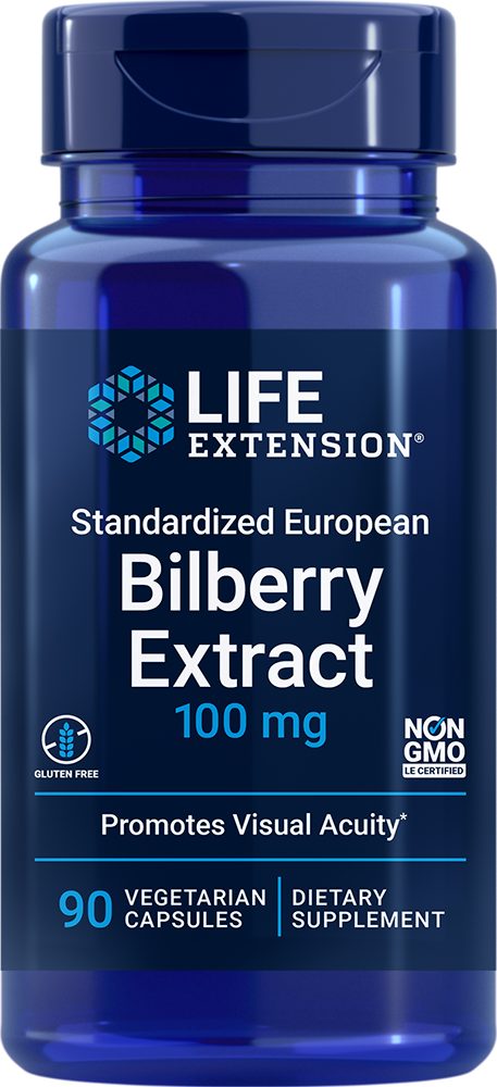 Standardized European Bilberry Extract, 100 mg, 90 vegetarian capsulesnohtin