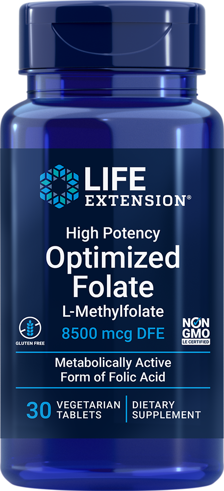 High Potency Optimized Folate 5000 mcg 30 vegetarian tablets