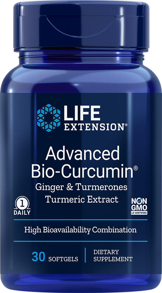 Advanced Bio-Curcumin® with Ginger & Turmerones, 30 softgels