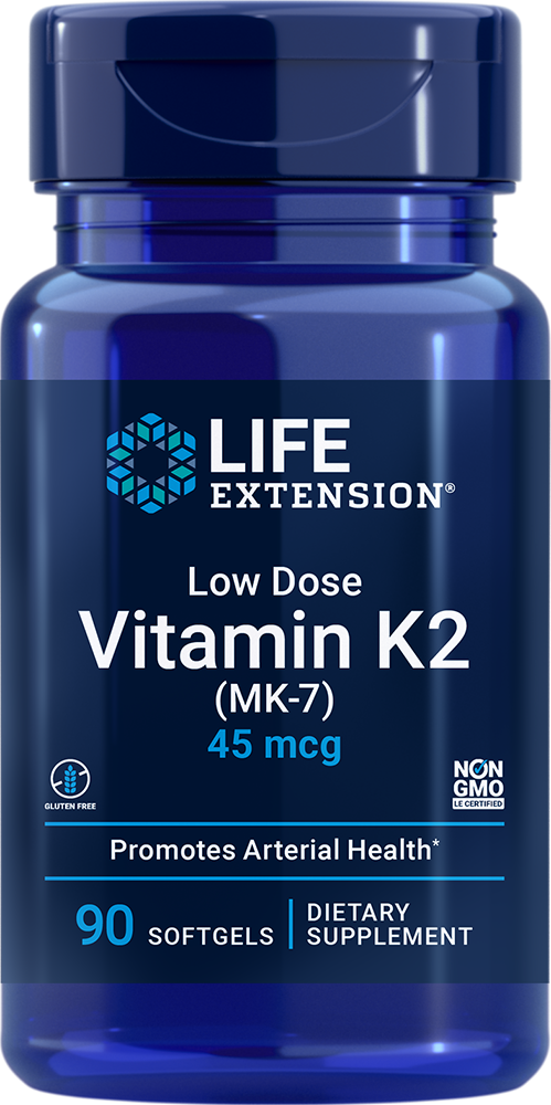 Low Dose Vitamin K2 45 mcg 90 softgels