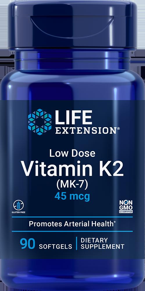 Life Extension Low Dose Vitamin K2 - 45 mcg (90 Softgels)
