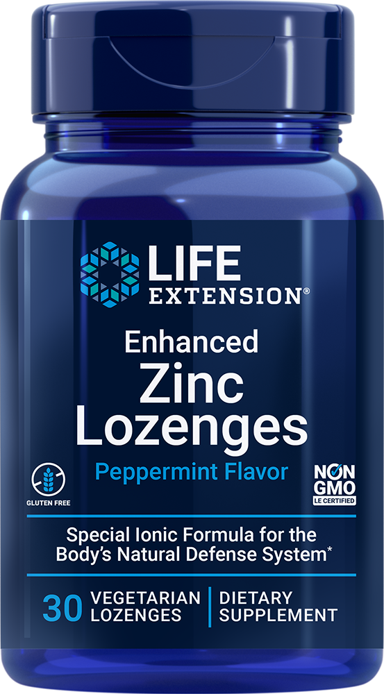 Life Extension Enhanced Zinc Lozenges, Peppermint (30 Lozenges, Vegetarian)