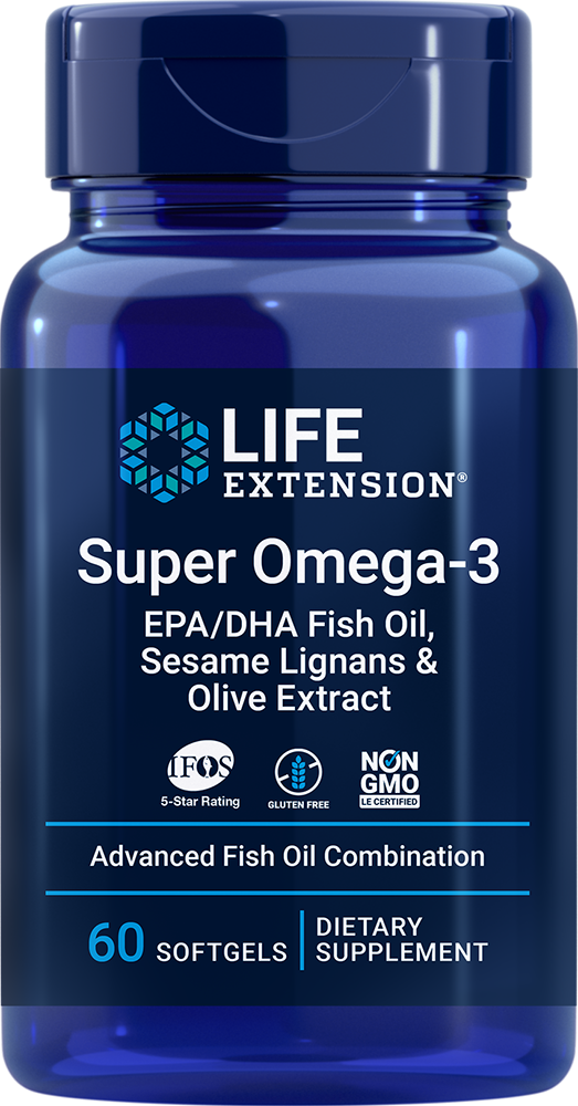 Super Omega-3 EPA/DHA with Sesame Lignans & Olive Extract, 60 softgels