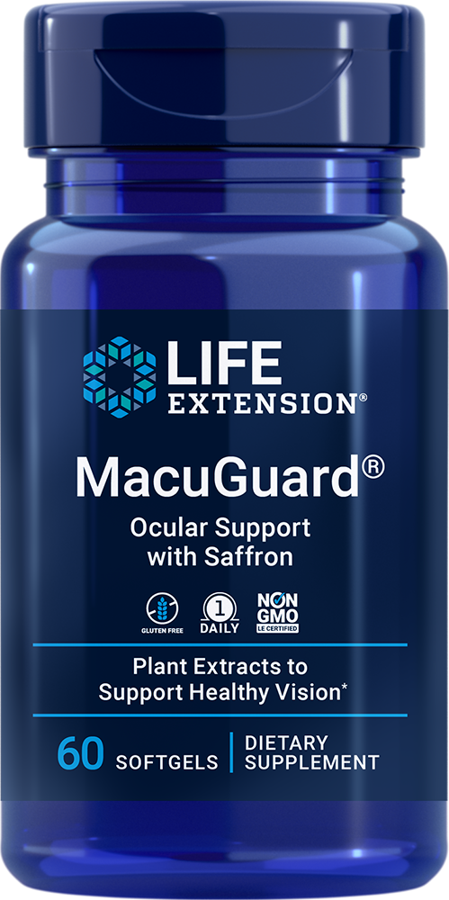 Macuguard Ocular Support With Saffron 60 Softgels Life Extension