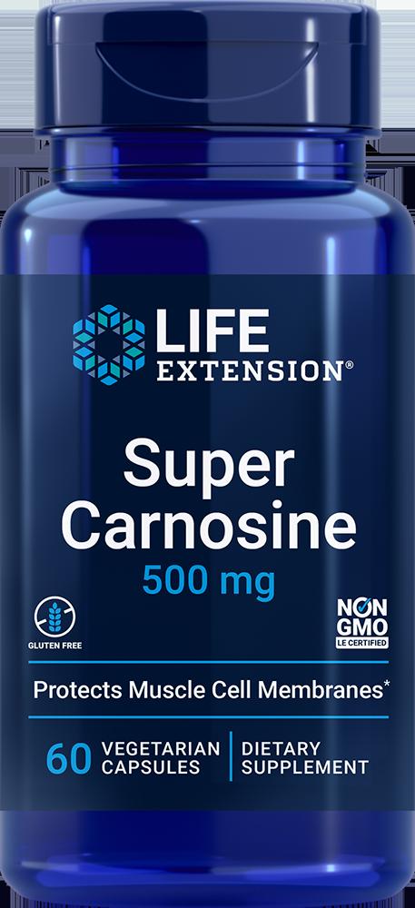 Super Carnosine 500 mg 60 vegetarian capsules