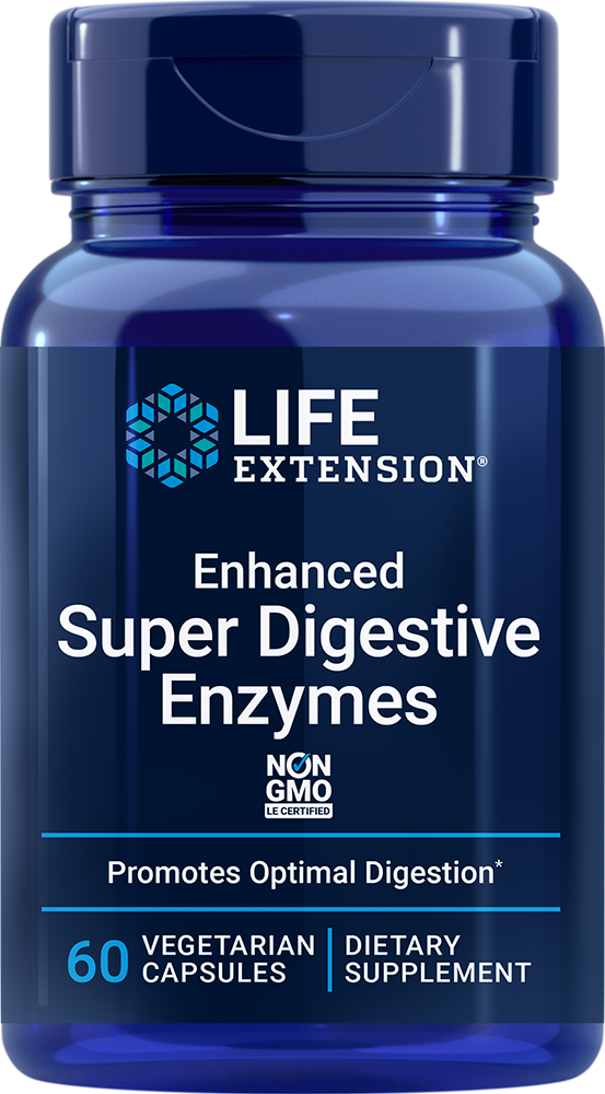 Enhanced Super Digestive Enzymes, 60 vegetarian capsulesnohtin