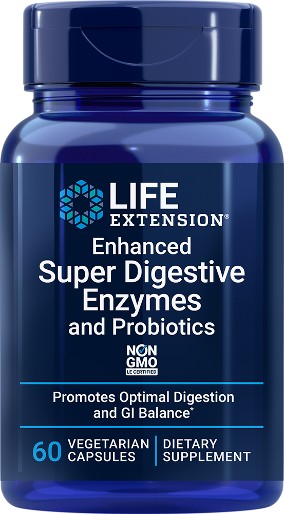 Enhanced Super Digestive Enzymes With Probiotics, 60 vegetarian capsules