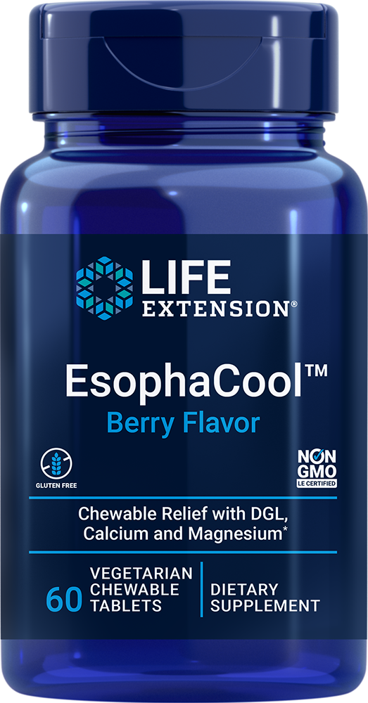 EsophaCool™, 60 chewable tablets