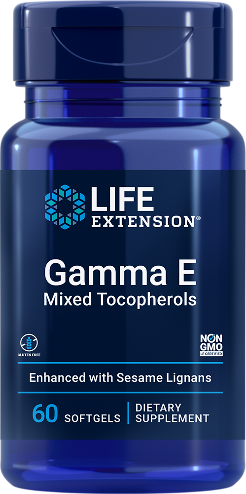 Gamma E Mixed Tocopherols, 60 softgelsnohtin