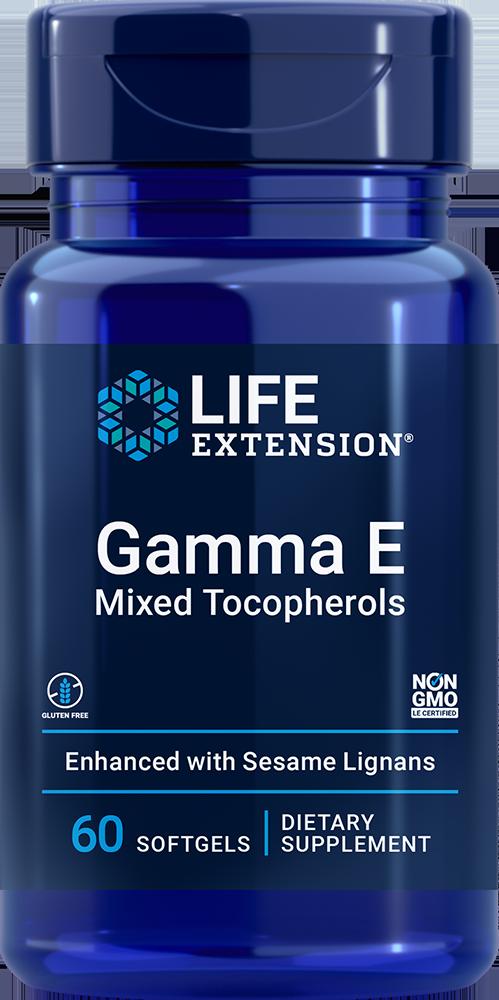 Gamma E Mixed Tocopherols, 60 softgels