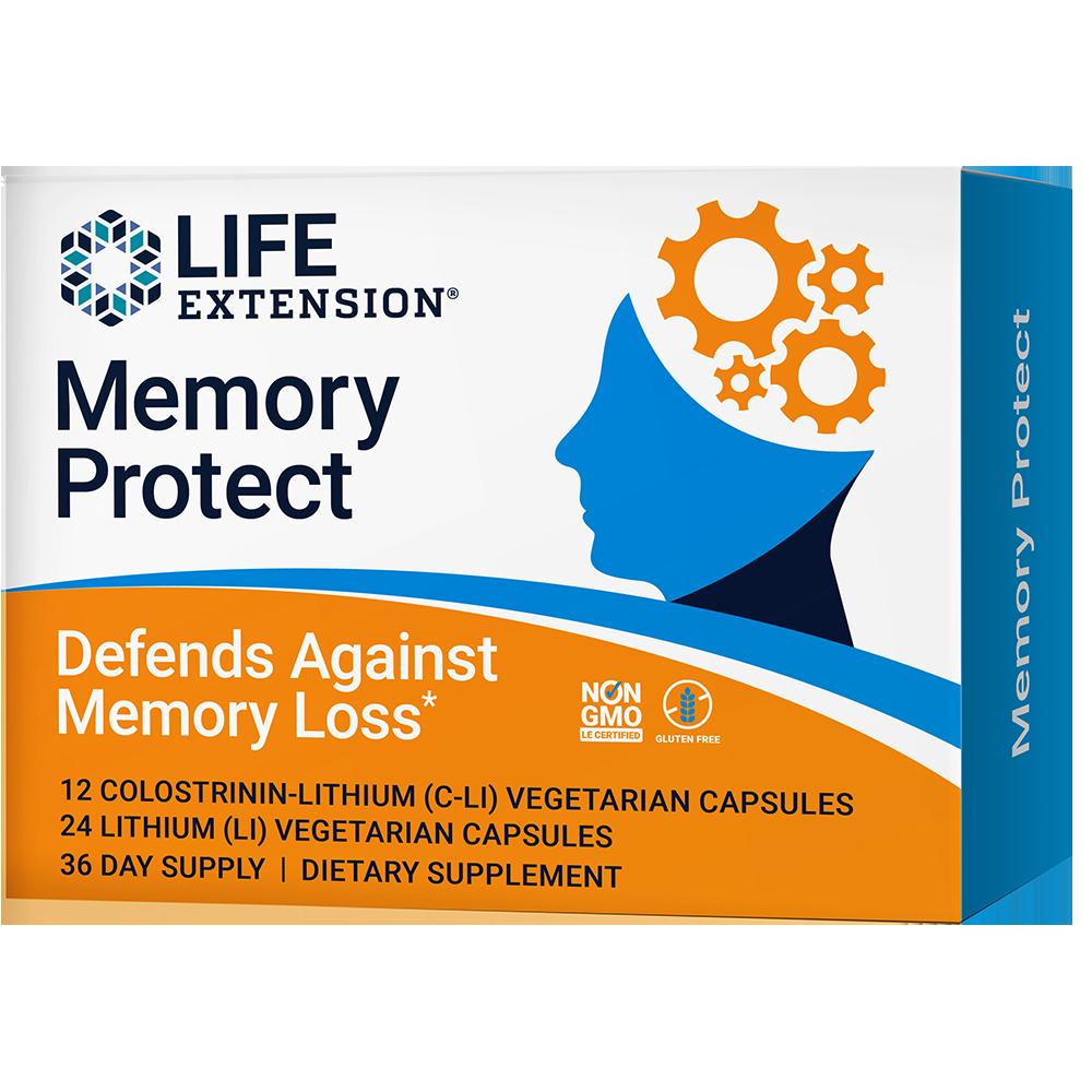 Memory Protect 12 Colostrinin Lithium C Li Capsules 24 Lithium Li Capsules