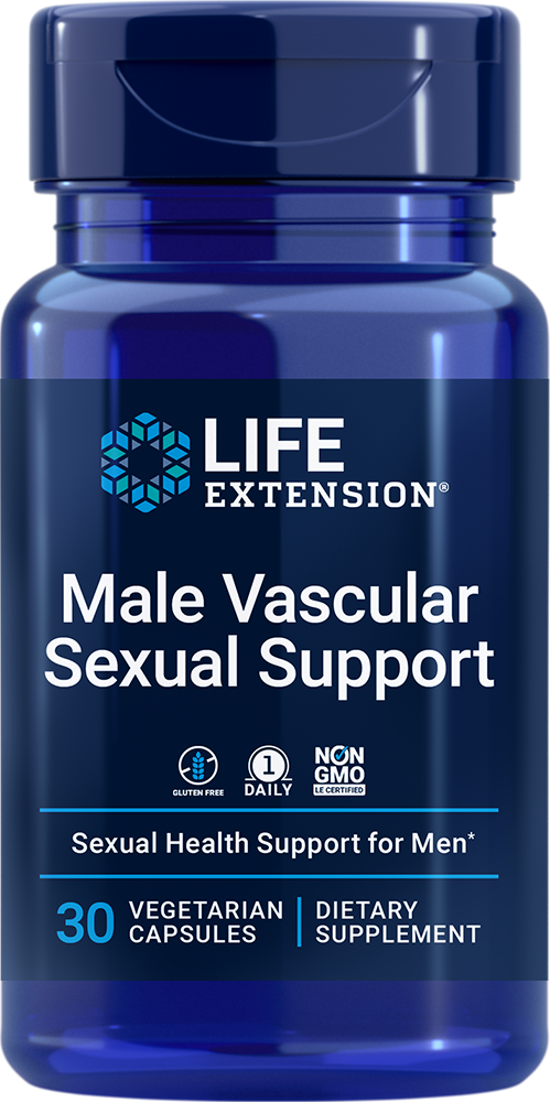 Male Vascular Sexual Support, 30 vegetarian capsules | Life