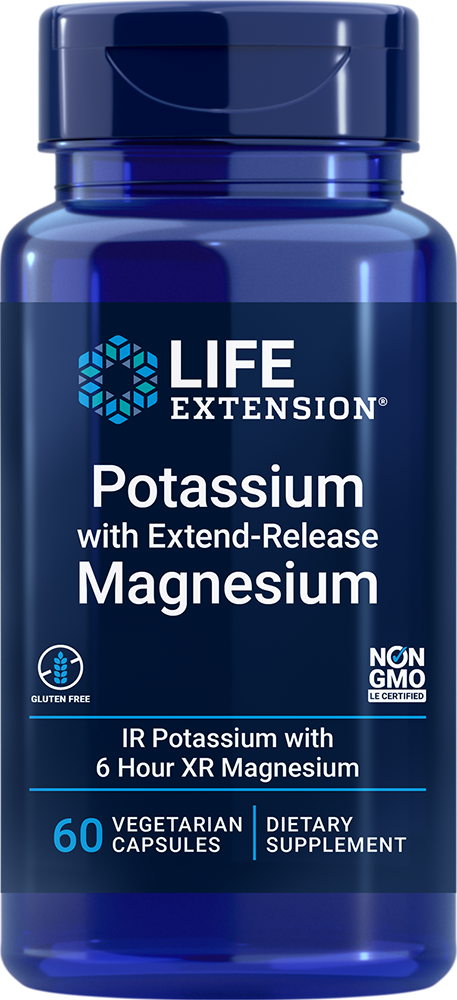 Life Extension Potassium with Extend-Release Magnesium (60 Capsules, Vegetarian)