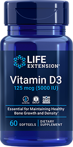 Life Extension Vitamin D3 - 5000 IU (60 Softgels)